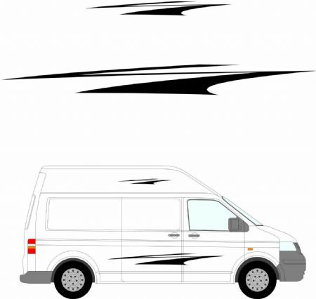(No.204) MOTORHOME GRAPHICS STICKERS DECALS CAMPER VAN CARAVAN UNIVERSAL FITTING
